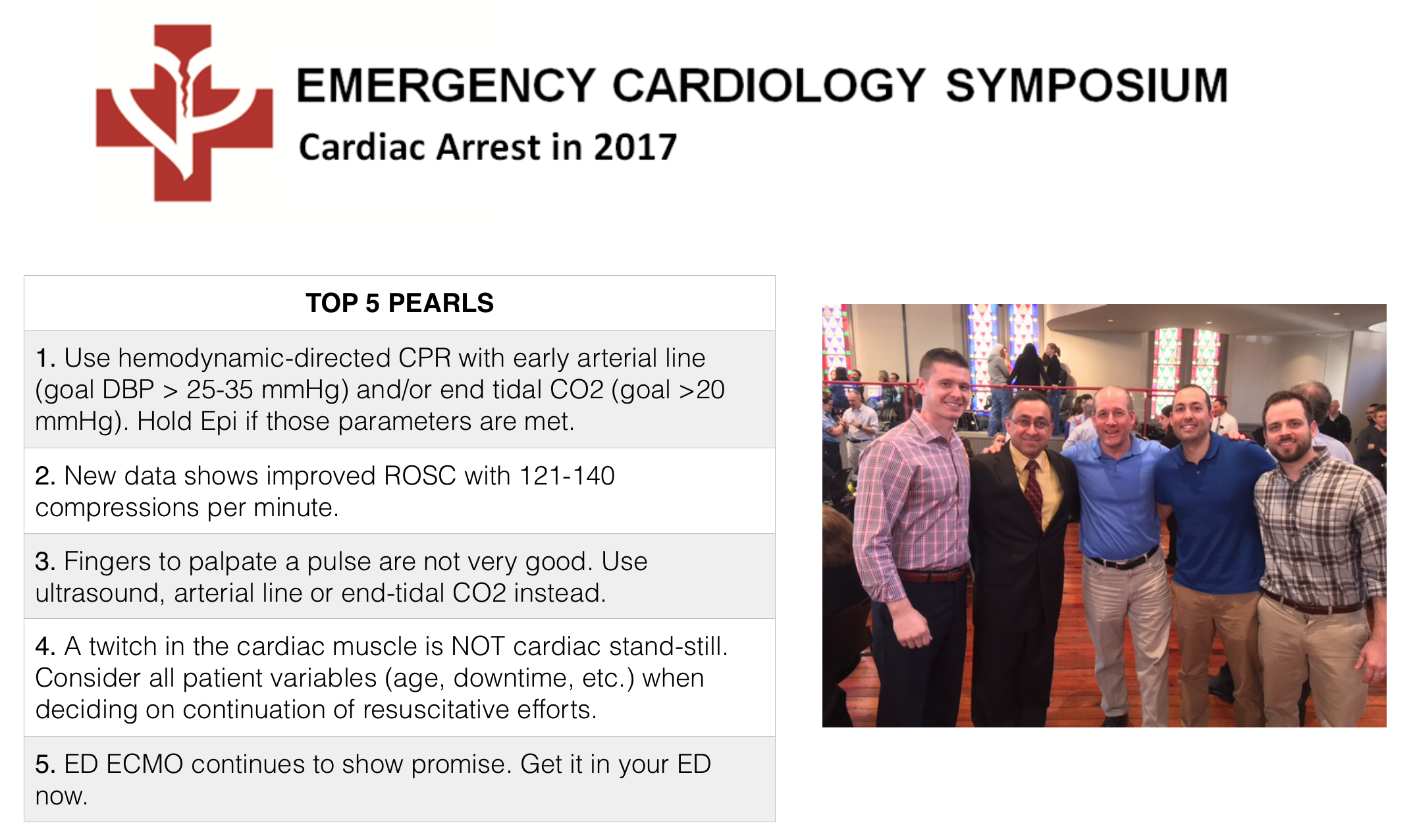 Take Home Pearls from 2017 UM EM Cardiac Arrest Symposium